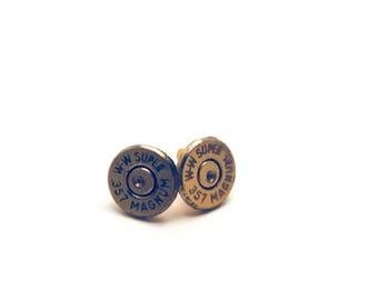 Adorable bullet casing earrings