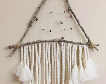 Triangle Dream Catcher Wall Hanging