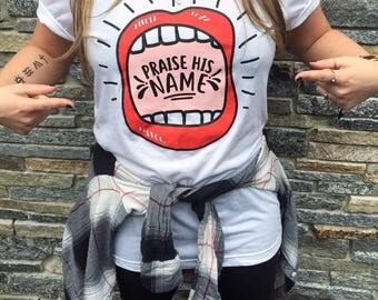Praise His Name T-shirt // Christian T-shirt // Christian apparel //Christian // Jesus // Unisex short sleeve tee // Jesus shirt // gift