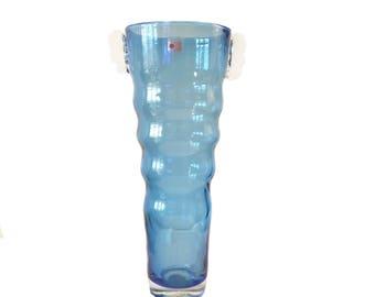 Mid Century Handmade Blenko Glass Vase