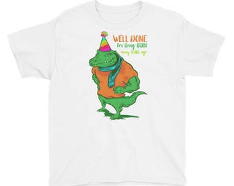 Alligator Birthday Party Crocodile Funny T-Shirt Gift Kids Youth Short Sleeve T-Shirt