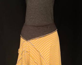 Yellow and gray flirty skirt