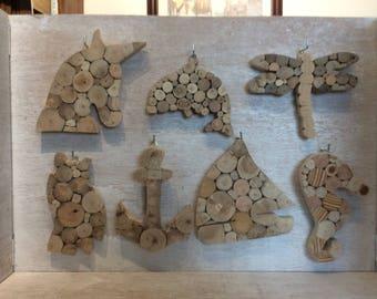 Nautical driftwood hanging end cuts