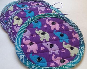 Elephant Potholders/Hotpads