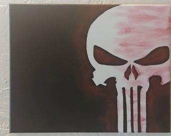 Punisher Painting - 8x10