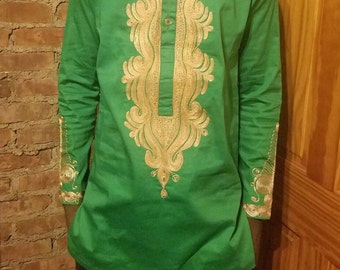 African Men's Outfit, Ankara Men's Attire, Long Sleeve Shirt/Top and Bottom for Men,African Clothing, Men's Wear
