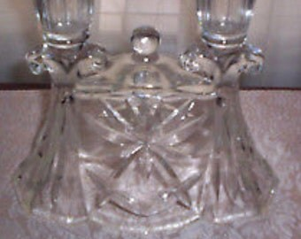 Anchor Hocking Early American Prescut double candle holder