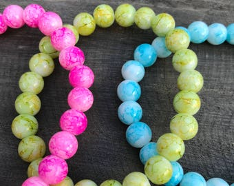 Simple glass bead bracelet