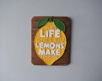 When Life Gives You Lemons Wall Art Lemon Wall Decor Lemon Kitchen Art Lemon Home Decor Lemon Art Decor Lemon Decoration Lemon Decor Art