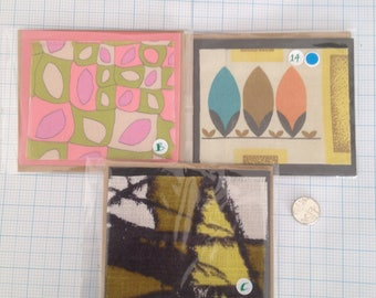 Original hand crafted up cycled fabric greeting cards for any occasion.