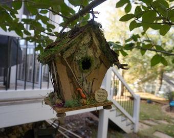 Handmade Bird House - House Wren Inn