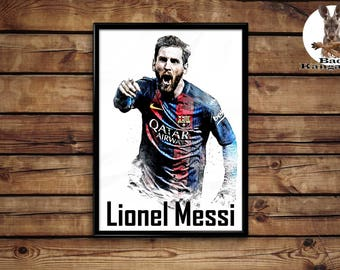 Lionel Messi print wall art home decor poster