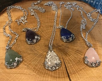 Gemstone Pendants and Chains