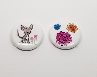 Small Illustrated Pin Set