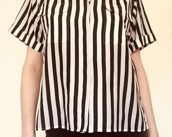Vintage 80s striped blouse