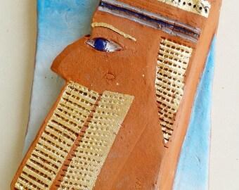 KING.Ceramic sculpture,Bible figure,Ceramic figurine,Unique Ceramic Figurine,Art ceramic,modern ceramics,judaic art,home decor,judaic art