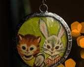 Storybook Charm Necklace - Kitty & Bunny