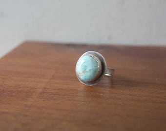 Handmade Turquoise Sterling Silver Ring Sterling Silver Stone Bezel Stone Ring