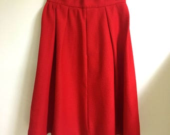 Red Full Skirt