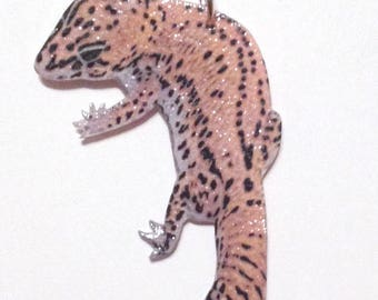 Handcrafted Plastic African Fat-tailed Gecko Lizard Reptile Necklace Pendant Lt