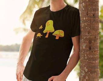 Mushroom Shirt Boho Woodland Graphic Tee Tree Hugger TShirt Turtle T-shirt Groovy Hippie Unisex Tees Gifts