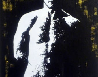 "Male Nude #62 Art Print  6x4"""