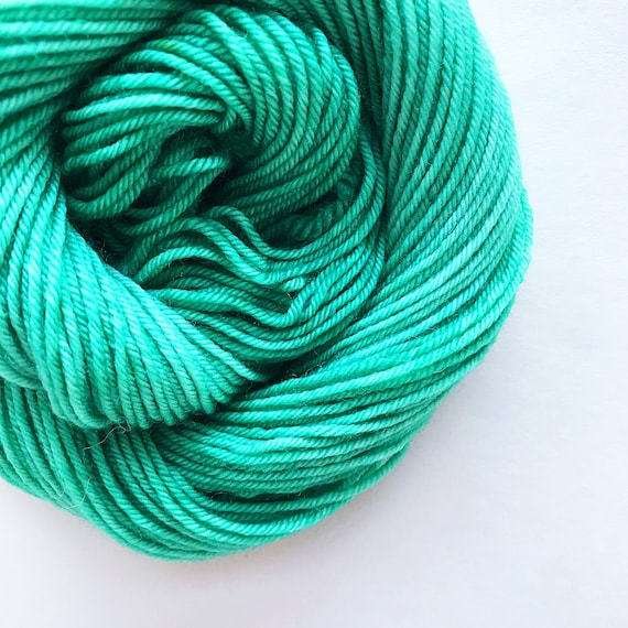 MINT green hand dyed yarn - choose your base