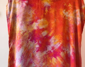 Ready to Ship, Hand Dyed Tank Dress in Fire Opal, Anna Joyce, Portland, OR