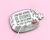 Not Afraid Needle Minder | sewing, embroidery, needle nanny, modern cross stitch, modern embroidery accessories