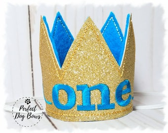 Gold Dog Birthday Crown, Dogs First Birthday, Dog King Crown, Mini Crown, Gotcha Day, Cake Smash, Photo Prop, Gold Pet Crown