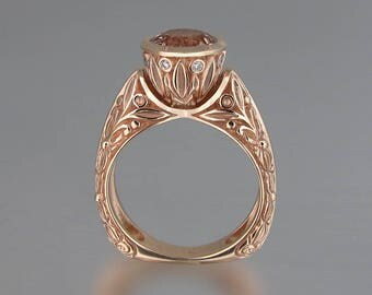 The CROWNED COUNTESS 14K rose gold ring with Morganite (sizes 7 to 9.5)