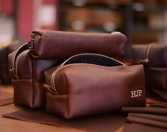 Personalized Leather Dopp Kit GROOMSMEN gift Leather Toiletry Bag Monogram Men Toiletry Bag wash bag Chinese New Year of the Dog