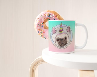 Pug Mug | Funny Coffee Mug | Pug Gifts | Unicorn Mug | Dog Mug | Unicorn Gifts | Pet Lover Gift | Pug Lover Gift | Cute Mug | Dog Lover Gift