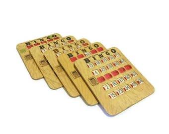 Bingo Cards Vintage Slide Opening Style
