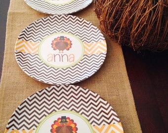 Thanksgiving Turkey Melamine Tableware   Personalized Thanksgiving Plate   Thanksgiving  Plate Set   Thanksgiving Plate For