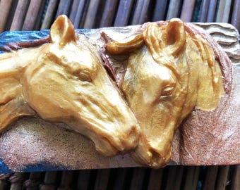 Horse Soap, Handmade Soap, Bar Soap, Palomino Horse Soap, Unisex Soap, Bar Soap, Ready to ship,  Gift for Her, Gift for Him, Ranch Decor