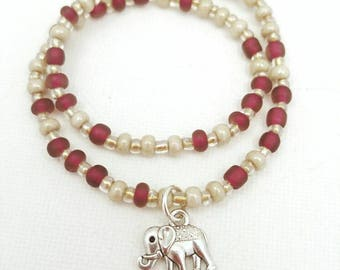 elephant anklet, ankle bracelet, beach anklets, beachy anklets, beaded anklets, anklets for women, handmade jewelry, ocean anklet, Canadian