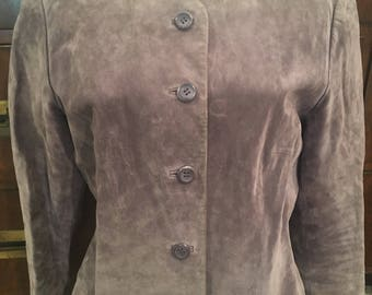 Vintage Dusty Mauve Pendleton Fitted Suede Jacket S epsteam Bloggers