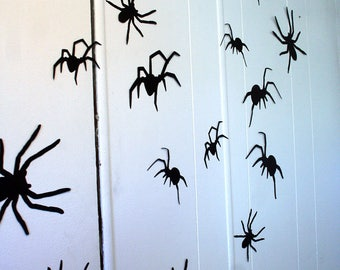 3D Wall Decor, Crawling Spiders Wall Decor, Halloween Party Decorations, Custom Wall Art Gothic Wall Art, Halloween Decorations, Spiders