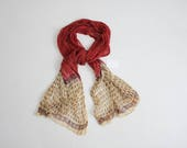 cotton gauze scarf | indian scarf | red floral scarf