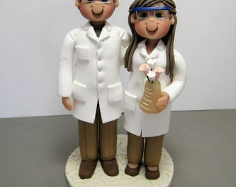 Deposit for a Customized Chemists Chemistry Wedding Cake Topper figurine decoration sculpture