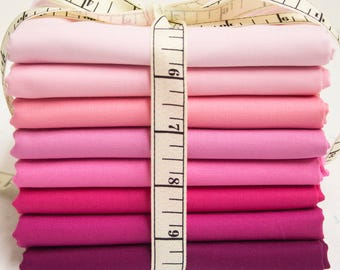 Moda Bella Solids Fabric Bundle - Pink