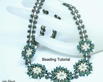 Beading Jewelry Tutorial for Round About Flower Necklace