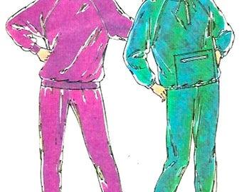 Women Track Suit 90s vintage sewing pattern Athletics Exercise jogging suit Kwik Sew 1977 Sz XS to XL UNCUT