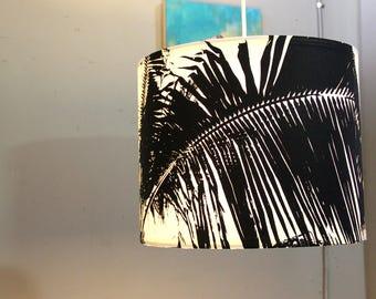 Black and White Palm Pendant Light - Modern Pendant Lamp - Contemporary Lighting - Tropical Lighting
