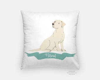 custom pet pillow, pet illustration, dog lovers, 16x16 pillow, family illustration, 20x20 pillow, kids pillow, dog pillow, decorative pillow