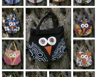 Hand bag/fancy fabrics/shaped owl/lucky charm/fashion/Birthday gift idea/ gift for girl/woman/gift/Gift for Owl Lover/fashion bag/owl gift