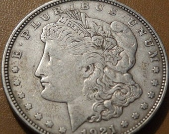 1921 Morgan Silver Dollar, Coin antique coins for Jewelry Jeweler Numismatic Coinage Retro Americana Coinage 1920's Liberty Art, Lot 23
