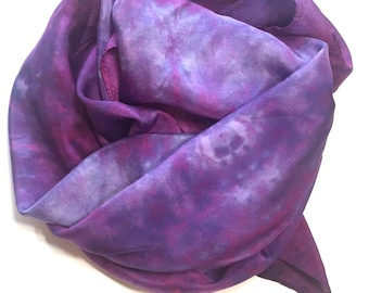 Purple Passion Silk Scarf or Playsilk, 35x35 inch