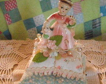 Handmade Vintage Inspired Pincushion